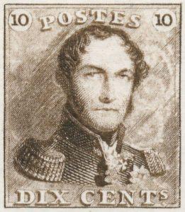Koning Leopold 1 postzegel